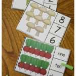 Vegetable Counting Clip Cards