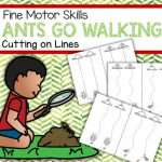 Ants Go Walking Cutting on Lines Fine Motor Practice