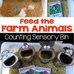 Feed the Farm Animals Counting Sensory Bin