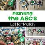 Planting the ABCs Letter Match