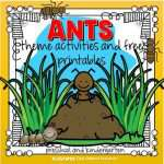 Ants Theme Activities and Printables