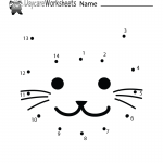 Cat Connect the Dots Worksheet