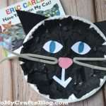 Tissue Paper Cat Paper Plate Craft