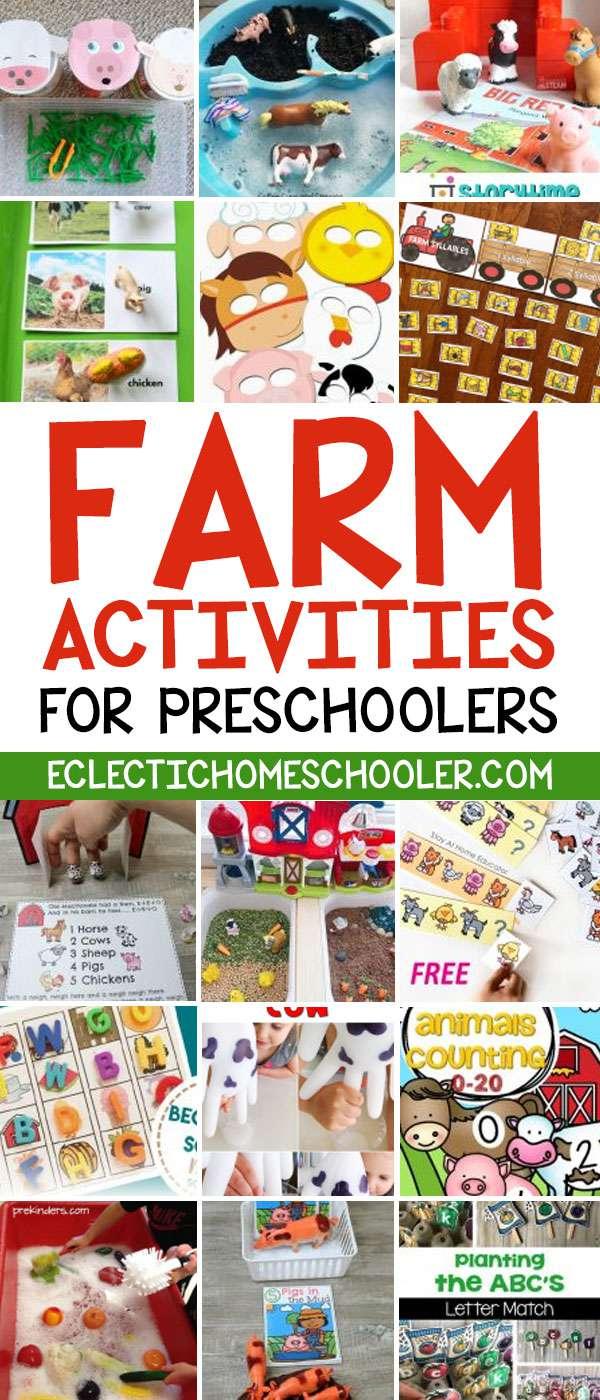 Farm Preschool Activities