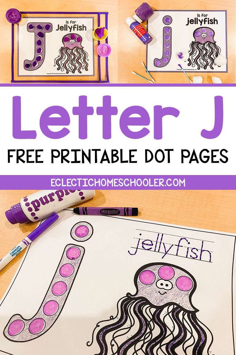 Free Letter J Printable Dot Pages