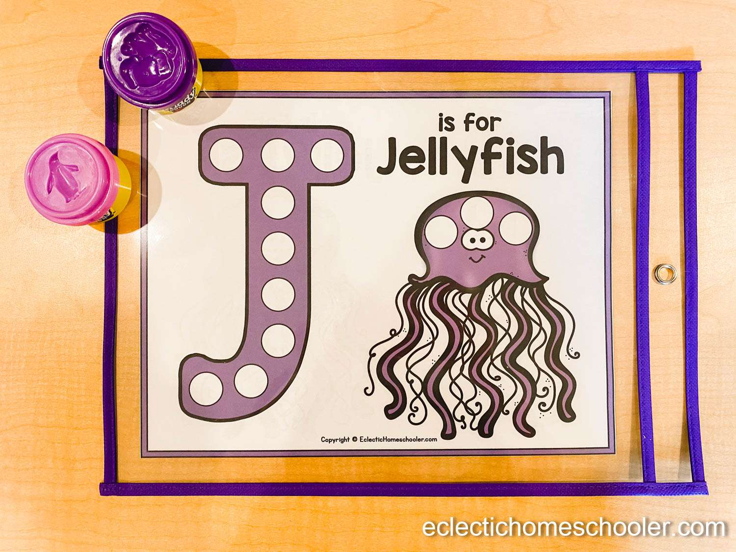 Letter J Do a Dot Printable With Play Dough Balls