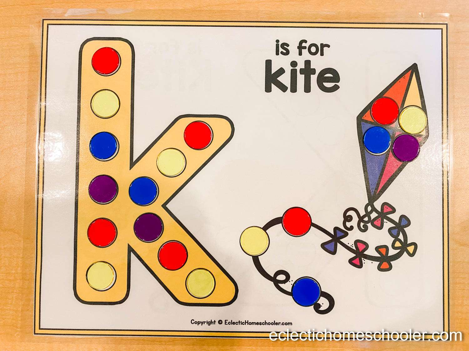 Letter K Do a Dot Printable