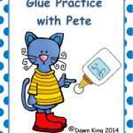Pete the Cat Glue Practice Worksheet