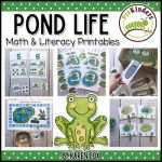 Pond Life Math & Literacy Printables