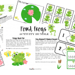 Pond Frogs Activity Bundle