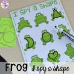 Frog I Spy a Shape Game