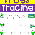 Spring Frogs Tracing Activity