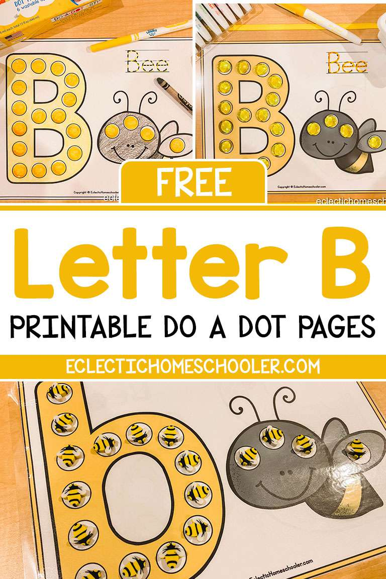 Free Letter B Printable Do a Dot Pages