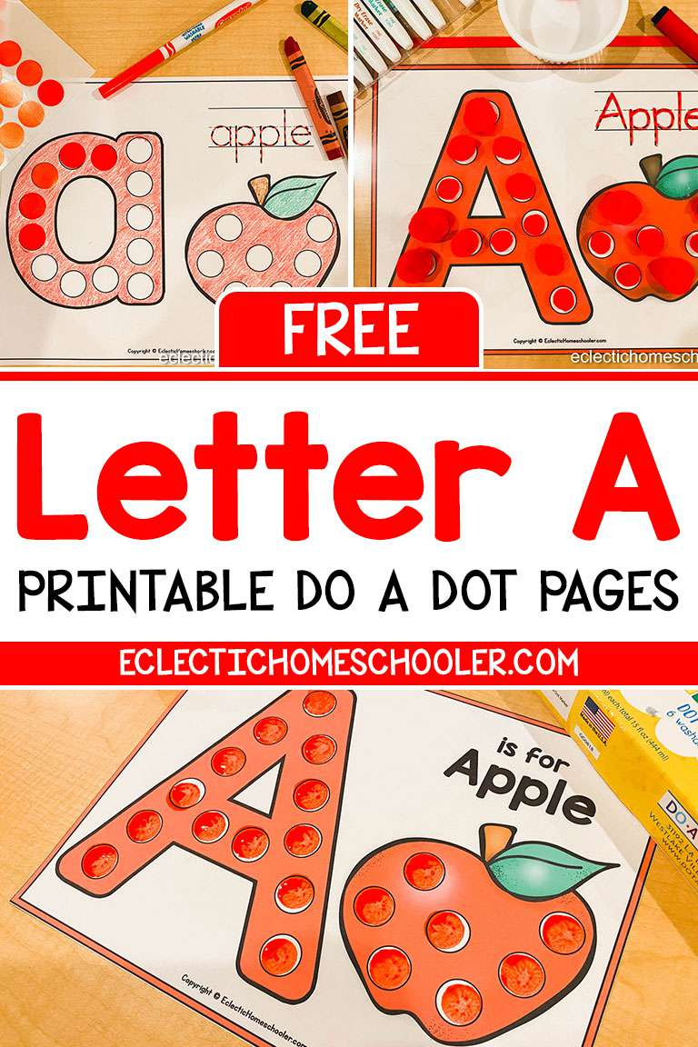 Free Letter A Printable Do a Dot Pages