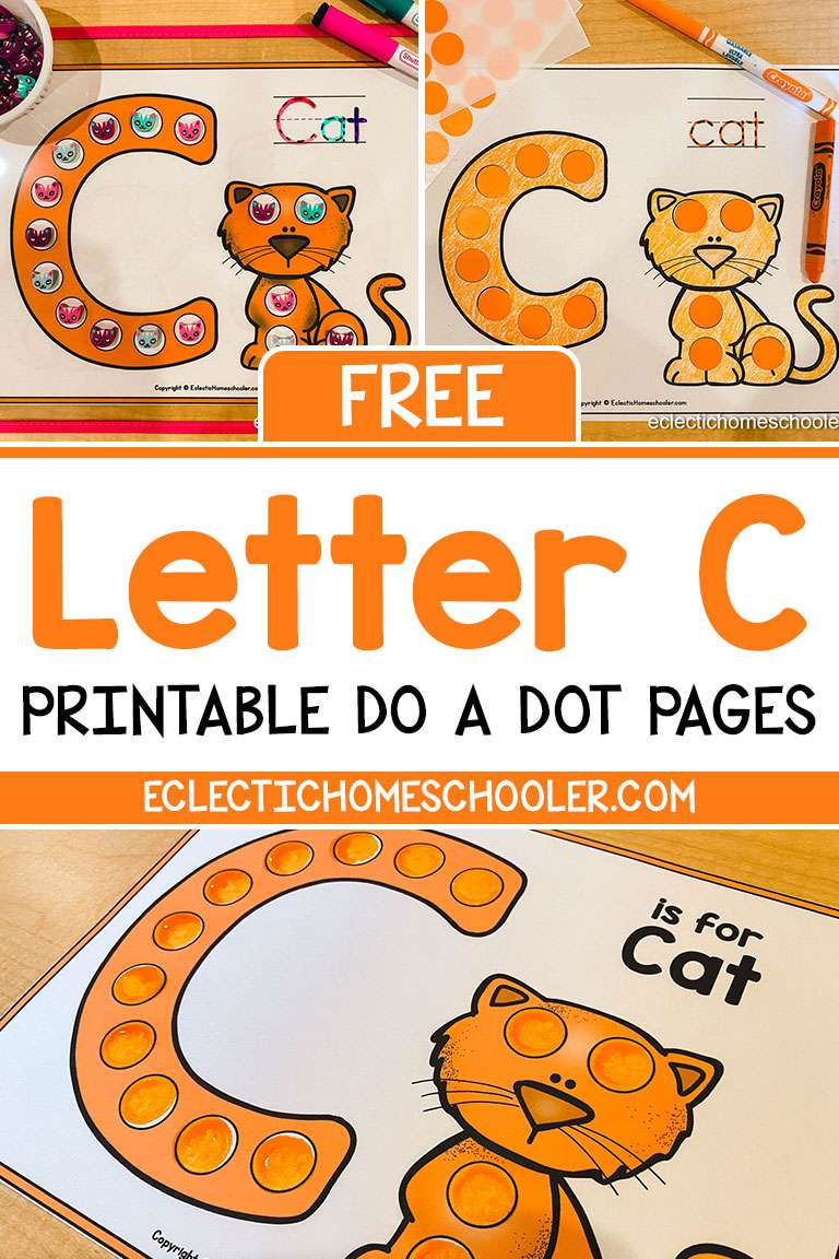Free Letter C Printable Do a Dot Pages