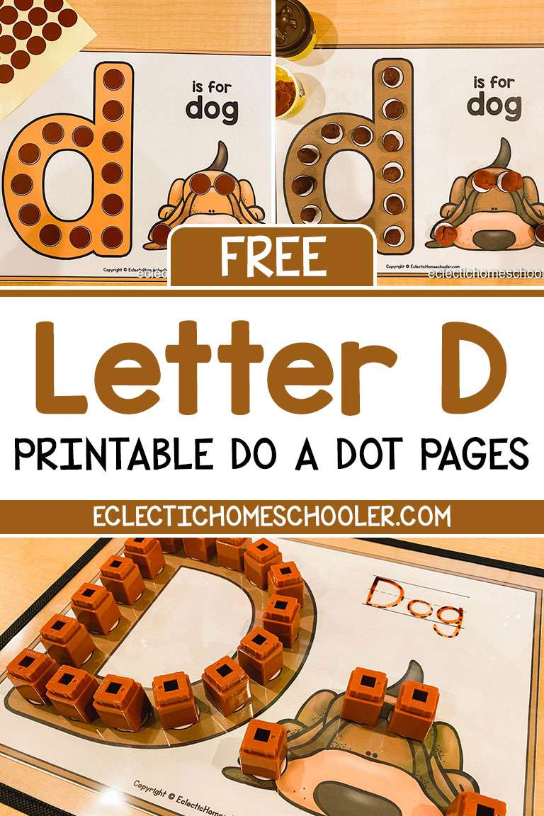Free Letter D Printable Do a Dot Pages