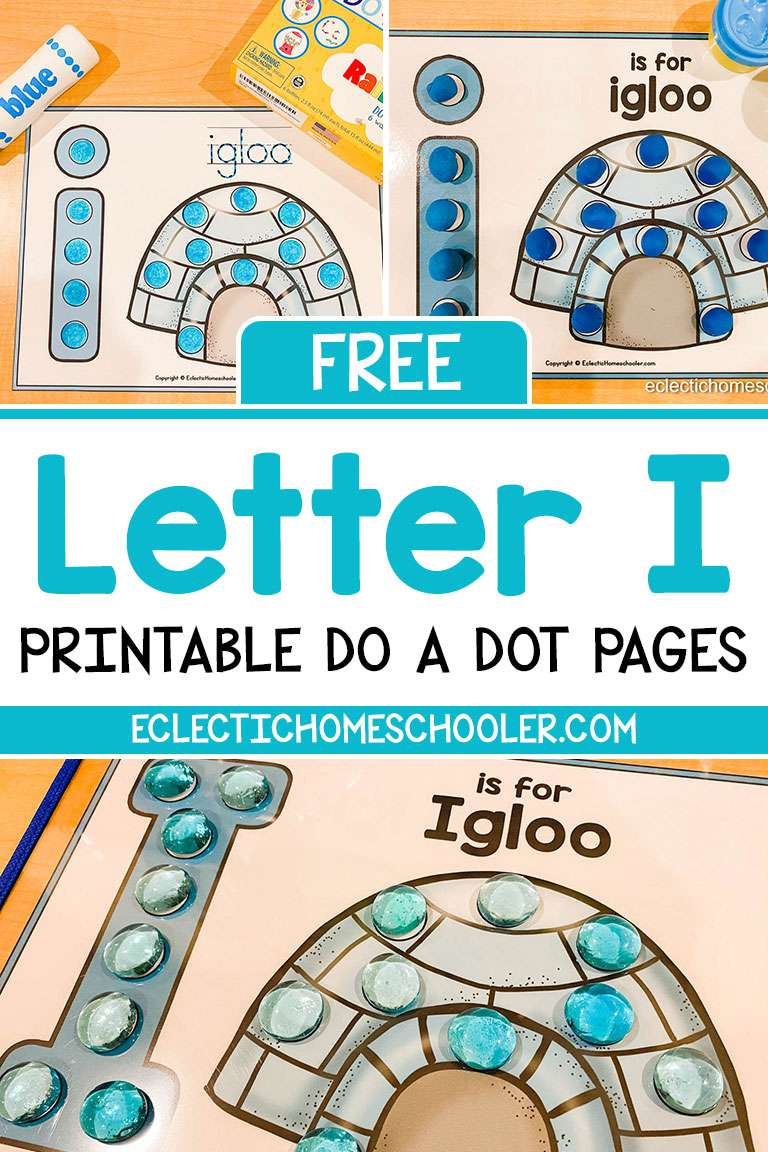 Free Letter I Printable Do a Dot Pages