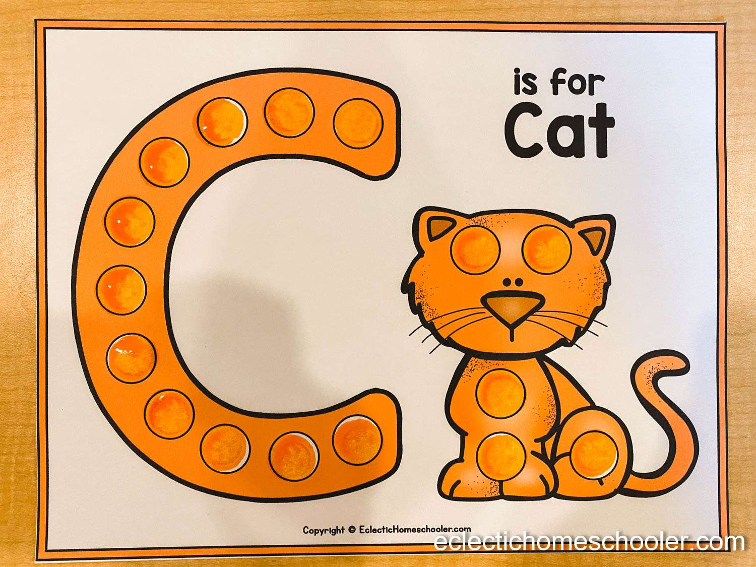 Letter C Do a Dot Printable With Dot Markers