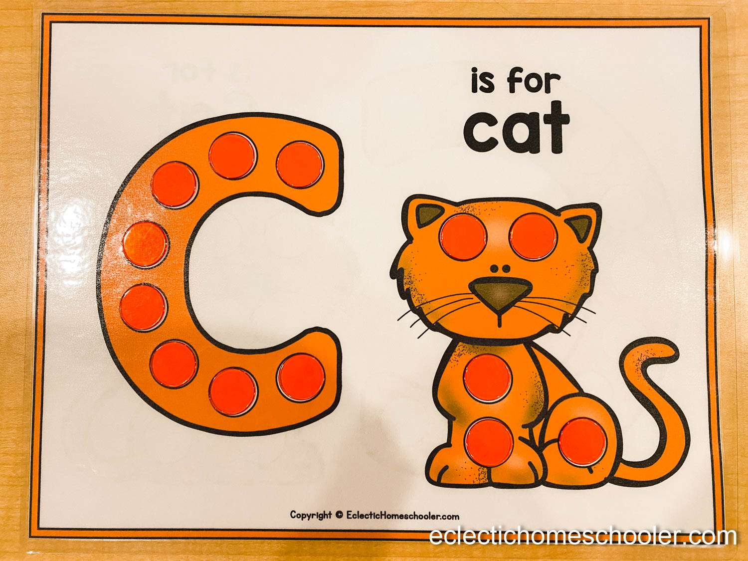 Letter C Do a Dot Printable With Counting Chips