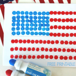 American Flag with Do a Dot Paint