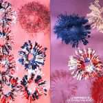 Fireworks Painting With Tissue Rolls