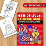 4th of July PDF Coloring Book