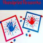 Handprint Fireworks Craft