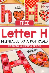 Letter H Printable Do a Dot Pages